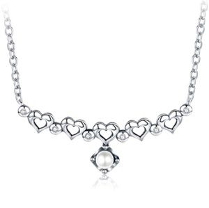"Jewelry - Sterling Silver ""The Call of Heart"" Pearl Necklace"